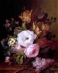 panier de fleurs (after g. vanspaendonck) by amélie pauline oberlin