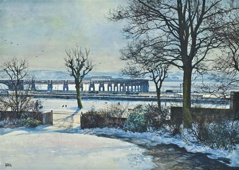 tay bridge from the artist's studio, dundee by james mcintosh patrick