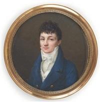 portrait du baron antoine-isaac silvestre de sacy by jean baptiste jacques augustin