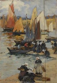 les pêcheurs bretons by fernand marie eugène legout-gérard