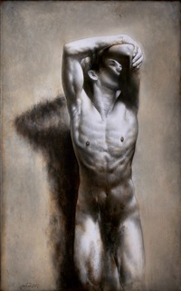 male nude by ronald ventura