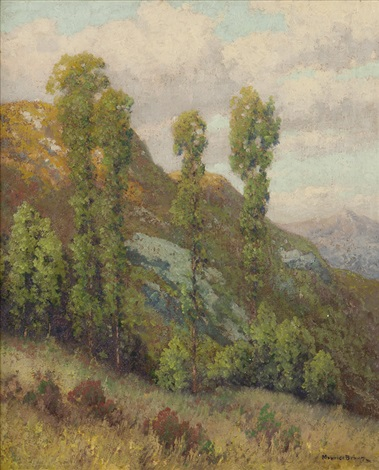 mountainside san diego foothills landscape by maurice braun