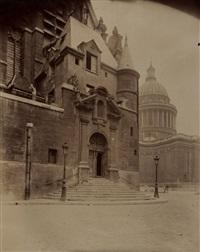 saint etienne du mont, panthéon, paris, 1898 by eugène atget