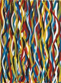wavy vertical brushstrokes by sol lewitt