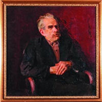 portret mężczyzny w fotelu by stanislaw lentz
