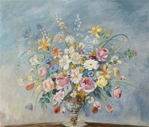 still life with flowers by max kuehne