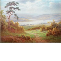 highland landscapes (2 works) by everett w. mellor