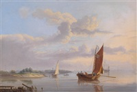 sailing ships by the coast by antonie waldorp