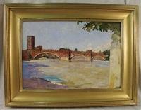 ponte di castel vecchio, verona, italy by joseph lindon smith