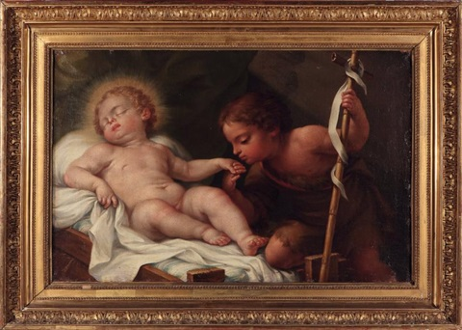 saint jean baptiste et lenfant jésus by jacopo amigoni