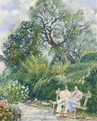 dans le jardin, menton by georges manzana-pissarro