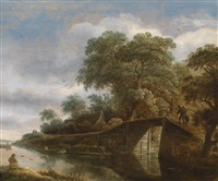 holländische kanallandschaft by roelof van vries