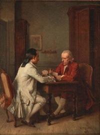 les joueurs de cartes by benjamin eugène fichel