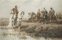 cheik arabe en voyage by adolf schreyer