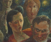 faces in a crowd florida 1947 by clyde singer
