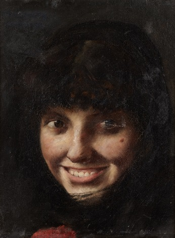 smiling young girl by lovis corinth