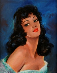 portrait de jeune femme brune by jules gustave lempereur