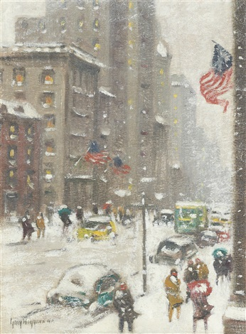 the blizzard 5th avenue by guy carleton wiggins