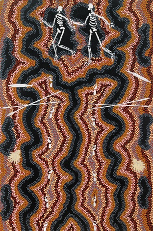 mythology of lungkata by clifford possum tjapaltjarri