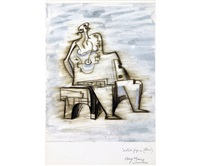 seated figure by henry moore
