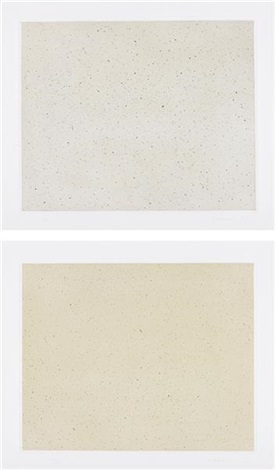 night sky 1 (reversed) (+ night sky 2 (reversed); 2 works) by vija celmins