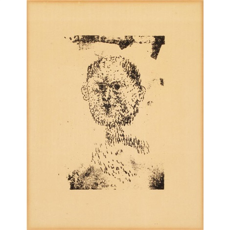 kopf bartiger mann by paul klee