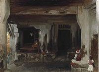 coffee house in algiers by lord frederick leighton