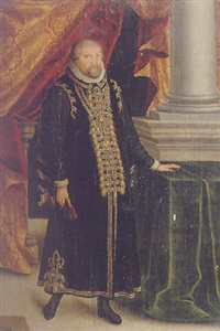 portrait of a nobleman in a palatial interior by zacharias wehm