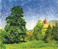 nagybánya landscape by péter rátz