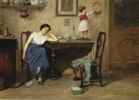 the tired mother by cesare vianello
