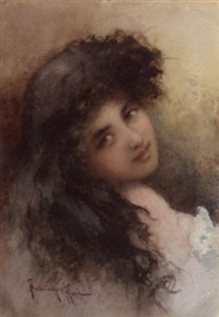 portrait of a lady by vikentios bokatsiabi