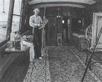 charles napier hemy in his studio by m. winefride freeman