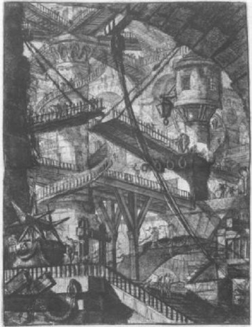 an analysis of carceri dinvenzione Plate 15 from 'carceri d'invenzione', etching by giovanni battista piranesi, italy, published 1761 museum number e4365-1908.