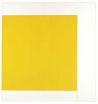 exposed painting yellow green deep by callum innes