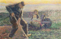 machelen, un jardinier plantant ses choux by jan toorop