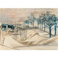 rocky landscapes (2 works) by joseph floch