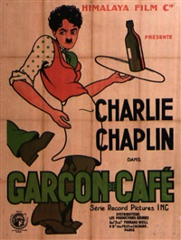 garcon de cafe/caught in a cabaret- charlie chaplin by posters: advertising