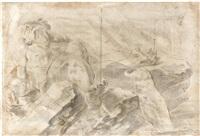 etude de figures (study) by giovanni lanfranco