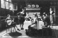 tavern scene by bruno blätter