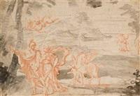 persée et andromède, pégase à l'arrière-plan by alexandre ubeleski