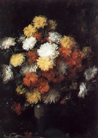 still life of flowers by charles a. sellar