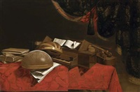 a still life with musical instruments by evaristo baschenis