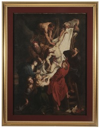 descent from the cross (after peter paul rubens) by louis farasyn