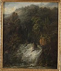 landskap med vattenfall by per gustaf von heideken