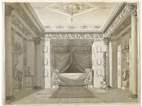 a study of an interior by charles percier