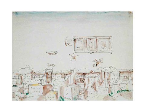 the flying komarov set of 32 by ilya kabakov