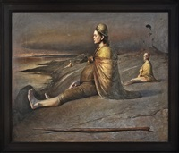 twin mother by the sea by odd nerdrum