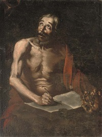 saint jerome translating the bible by hendrick van somer