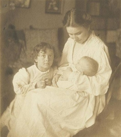 family study mother and children by gertrude kasebier