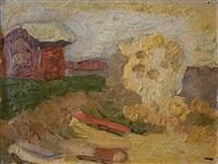 paisaje con rancho by alfredo de simone